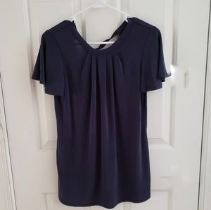 NWT A Pea in the Pod Navy Blue Maternity Blouse